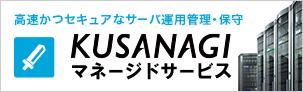サーバ運用管理・保守サービス 「KUSANAGI マネージドサービス」
